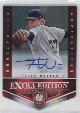2012 Elite Extra Edition Aspirations Die-Cut Signatures [Autographed] #181 - Tyler Wagner /100