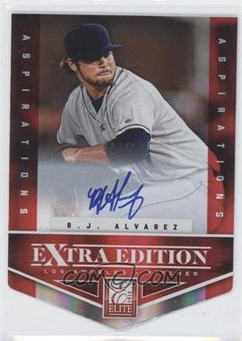 2012 Elite Extra Edition Aspirations Die-Cut Signatures [Autographed] #186 - R.J. Alvarez /100