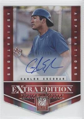 2012 Elite Extra Edition Aspirations Die-Cut Signatures [Autographed] #190 - Carlos Escobar /100
