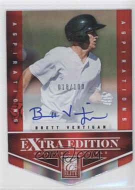 2012 Elite Extra Edition Aspirations Die-Cut Signatures [Autographed] #196 - Brett Vertigan /100
