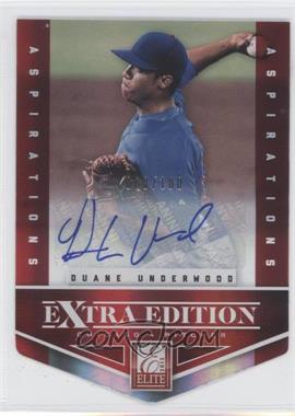 2012 Elite Extra Edition Aspirations Die-Cut Signatures [Autographed] #27 - Duane Underwood /100