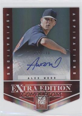 2012 Elite Extra Edition Aspirations Die-Cut Signatures [Autographed] #30 - Alex Wood /100
