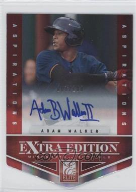 2012 Elite Extra Edition Aspirations Die-Cut Signatures [Autographed] #31 - Adam Walker /100