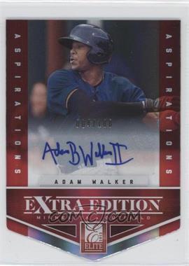 2012 Elite Extra Edition Aspirations Die-Cut Signatures [Autographed] #31 - Adam Walker /100