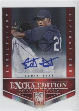 2012 Elite Extra Edition Aspirations Die-Cut Signatures [Autographed] #36 - Edwin Diaz /100