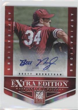 2012 Elite Extra Edition Aspirations Die-Cut Signatures [Autographed] #38 - Brett Mooneyham /100