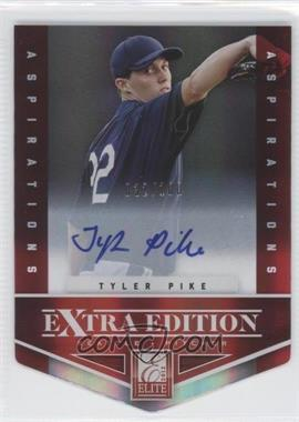 2012 Elite Extra Edition Aspirations Die-Cut Signatures [Autographed] #43 - Tyler Pike /100