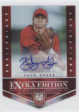 2012 Elite Extra Edition Aspirations Die-Cut Signatures [Autographed] #44 - Zach Green /100
