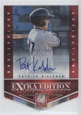 2012 Elite Extra Edition Aspirations Die-Cut Signatures [Autographed] #46 - Patrick Kivlehan /100
