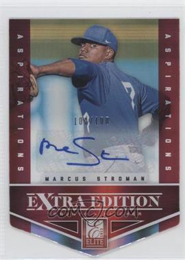 2012 Elite Extra Edition Aspirations Die-Cut Signatures [Autographed] #5 - Marcus Stroman /100