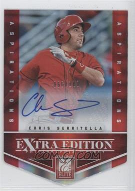 2012 Elite Extra Edition Aspirations Die-Cut Signatures [Autographed] #53 - Chris Serritella /100