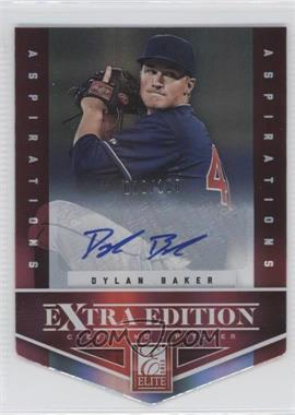 2012 Elite Extra Edition Aspirations Die-Cut Signatures [Autographed] #58 - Dylan Baker /100