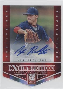 2012 Elite Extra Edition Aspirations Die-Cut Signatures [Autographed] #63 - Lex Rutledge /100