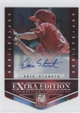 2012 Elite Extra Edition Aspirations Die-Cut Signatures [Autographed] #67 - Eric Stamets /100