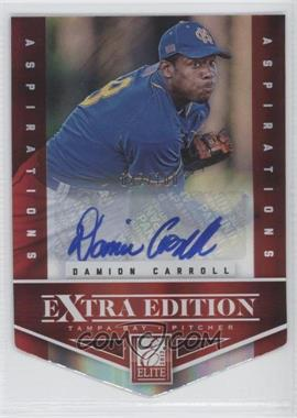 2012 Elite Extra Edition Aspirations Die-Cut Signatures [Autographed] #68 - Damion Carroll /100