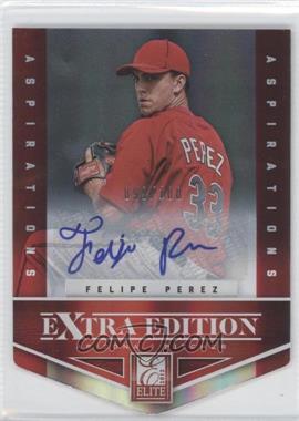 2012 Elite Extra Edition Aspirations Die-Cut Signatures [Autographed] #69 - Felipe Perez /100