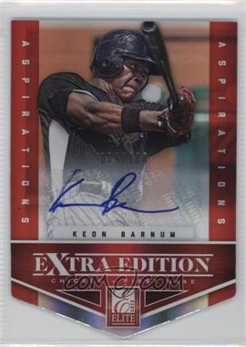 2012 Elite Extra Edition Aspirations Die-Cut Signatures [Autographed] #7 - Keon Barnum /100