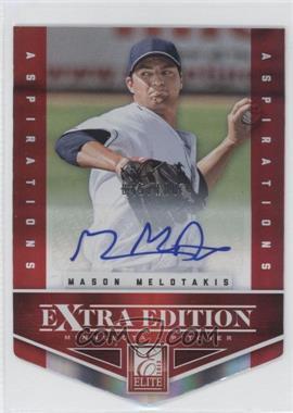 2012 Elite Extra Edition Aspirations Die-Cut Signatures [Autographed] #70 - Mason Melotakis /100
