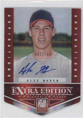 2012 Elite Extra Edition Aspirations Die-Cut Signatures [Autographed] #79 - Alex Muren /100