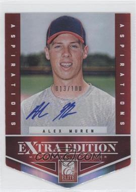 2012 Elite Extra Edition Aspirations Die-Cut Signatures [Autographed] #79 - Alex Muren /100