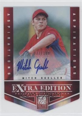 2012 Elite Extra Edition Aspirations Die-Cut Signatures [Autographed] #8 - Mitch Gueller /100
