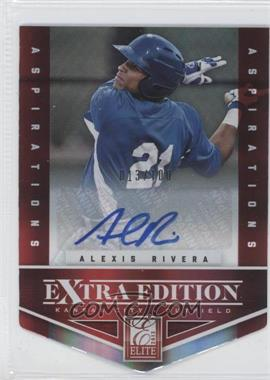 2012 Elite Extra Edition Aspirations Die-Cut Signatures [Autographed] #82 - Alexis Rivera /100