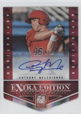 2012 Elite Extra Edition Aspirations Die-Cut Signatures [Autographed] #87 - Anthony Melchionda /100