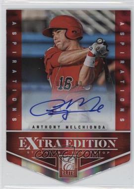 2012 Elite Extra Edition Aspirations Die-Cut Signatures [Autographed] #87 - Anthony Melchionda /100