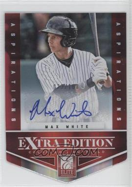 2012 Elite Extra Edition Aspirations Die-Cut Signatures [Autographed] #9 - Max White /100