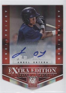 2012 Elite Extra Edition Aspirations Die-Cut Signatures [Autographed] #93 - Angel Ortega /100