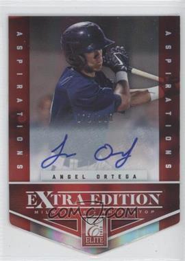 2012 Elite Extra Edition Aspirations Die-Cut Signatures [Autographed] #93 - Angel Ortega /100