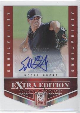 2012 Elite Extra Edition Aspirations Die-Cut Signatures [Autographed] #96 - Scott Oberg /100