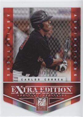 2012 Elite Extra Edition Aspirations Die-Cut #101 - Carlos Correa /200