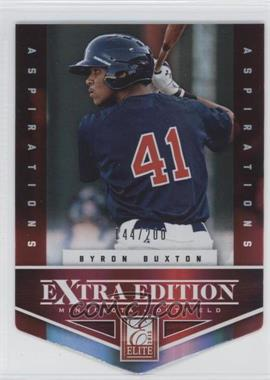 2012 Elite Extra Edition Aspirations Die-Cut #102 - Byron Buxton /200