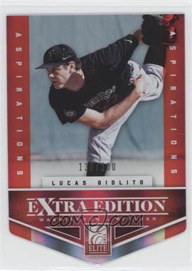 2012 Elite Extra Edition Aspirations Die-Cut #111 - Lucas Giolito /200