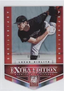 2012 Elite Extra Edition Aspirations Die-Cut #111 - Lucas Giolito /200