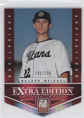 2012 Elite Extra Edition Aspirations Die-Cut #129 - Walker Weickel /200