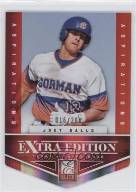 2012 Elite Extra Edition Aspirations Die-Cut #131 - Joey Gallo /200