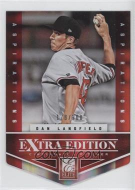 2012 Elite Extra Edition Aspirations Die-Cut #173 - Dan Langfield /200