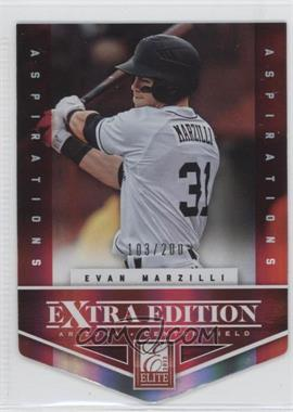2012 Elite Extra Edition Aspirations Die-Cut #189 - Evan Marzilli /200