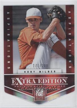 2012 Elite Extra Edition Aspirations Die-Cut #197 - Hoby Milner /200