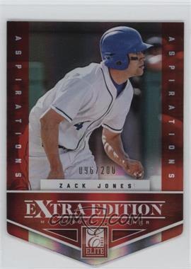 2012 Elite Extra Edition Aspirations Die-Cut #45 - Zack Jones /200