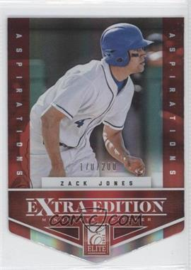 2012 Elite Extra Edition Aspirations Die-Cut #45 - Zack Jones /200