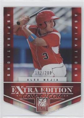 2012 Elite Extra Edition Aspirations Die-Cut #48 - Alex Mejia /200