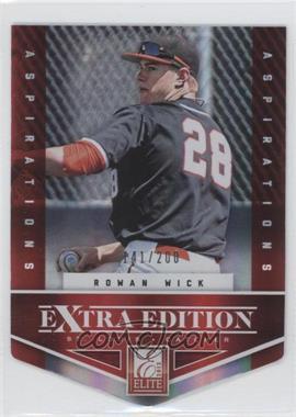 2012 Elite Extra Edition Aspirations Die-Cut #71 - Rowan Wick /200