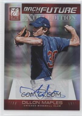 2012 Elite Extra Edition Back to the Future Signatures #1 - Dillon Maples /396