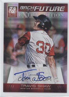 2012 Elite Extra Edition Back to the Future Signatures #11 - Travis Shaw /46