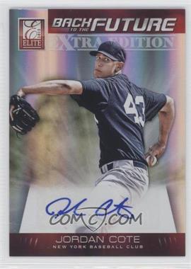 2012 Elite Extra Edition Back to the Future Signatures #6 - Jordan Cote /51