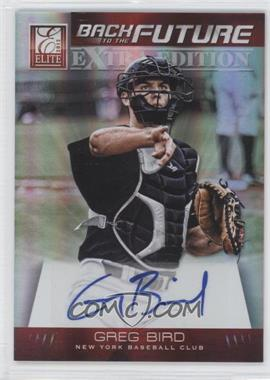 2012 Elite Extra Edition Back to the Future Signatures #7 - Greg Bird /249