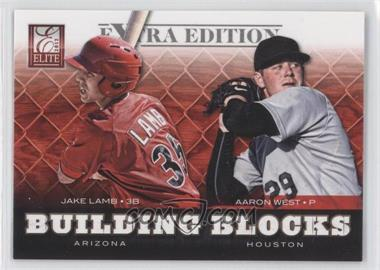 2012 Elite Extra Edition Building Blocks Dual #11 - Aaron West, Jake Lamb
